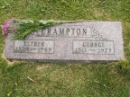 "Esther Bernice Crampton nee Woolery & George Alva ""Buzz"" Crampton  2 Jul 1921 - 14 Jan 1969 & 31 Dec 1911 - 28 Mar 1979"